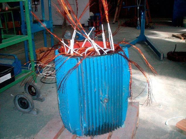 Rebobinamento motores elétricos